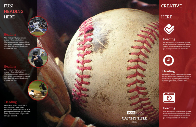 Baseball Camp Brochure Template Preview 3