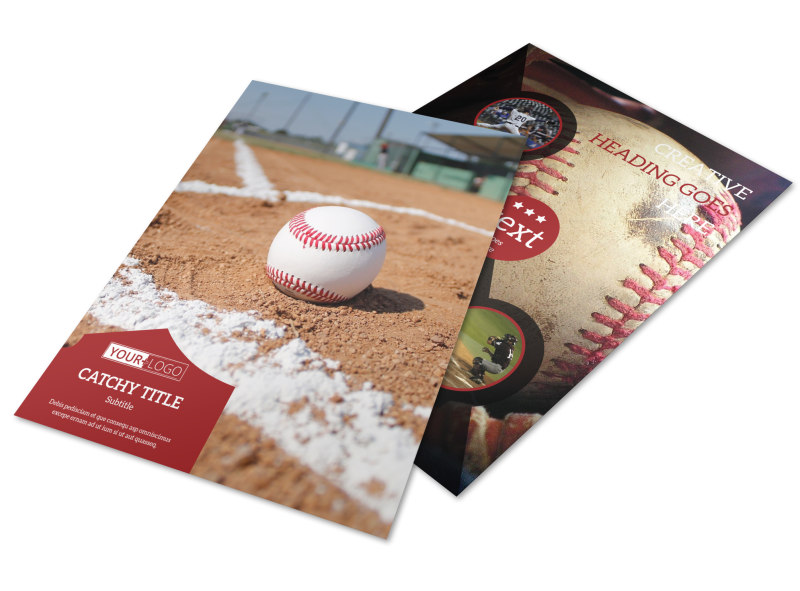 Baseball Camp Flyer Template | Mycreativeshop