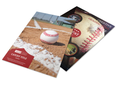 Baseball Sports Camp Flyer Template preview
