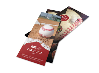 Baseball Sports Camp Flyer Template 2 preview