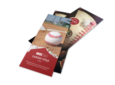 Baseball Sports Camp Flyer Template 2