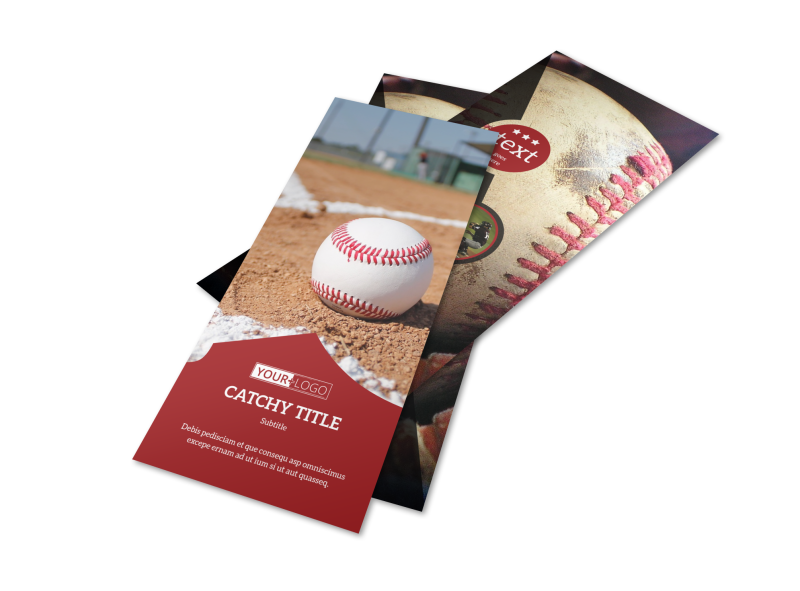 Baseball Camp Flyer Template Preview 1