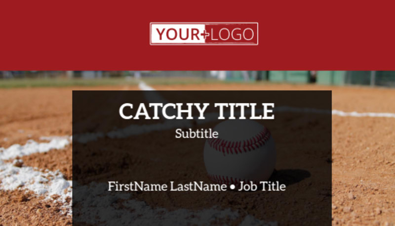 Baseball Camp Business Card Template Preview 2