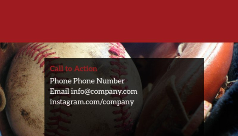 Baseball Camp Business Card Template Preview 3