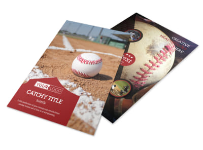 Baseball Sports Camp Flyer Template 3 preview