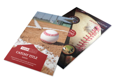 Baseball Sports Camp Flyer Template 3