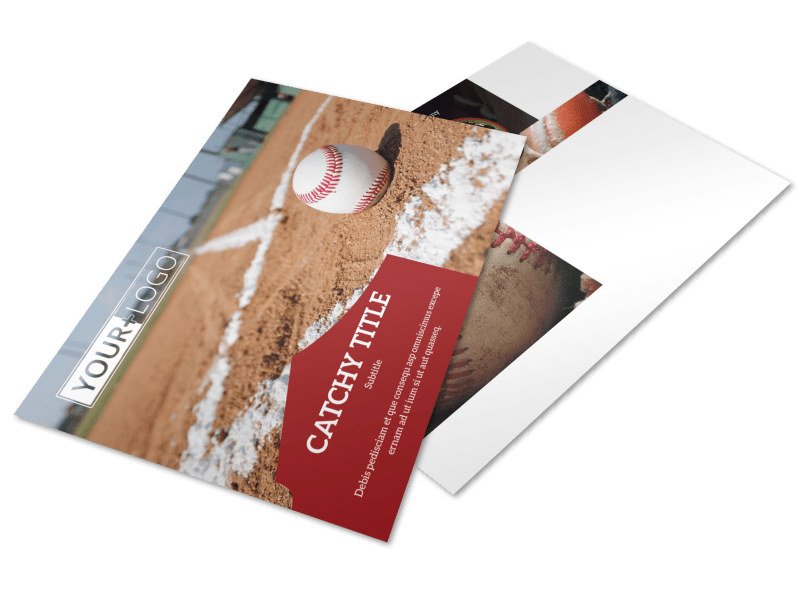 Baseball Camp Postcard Template Preview 4