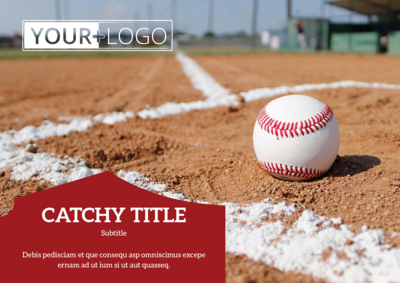 Baseball Camp Postcard Template Preview 2