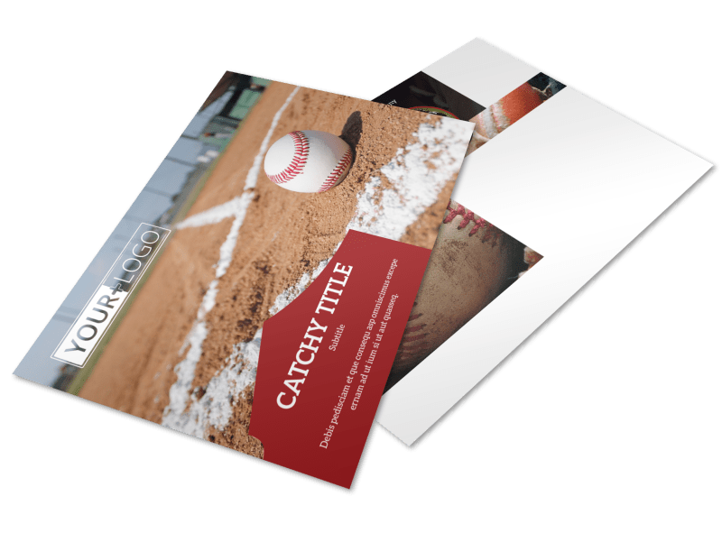 Baseball Camp Postcard Template Preview 1