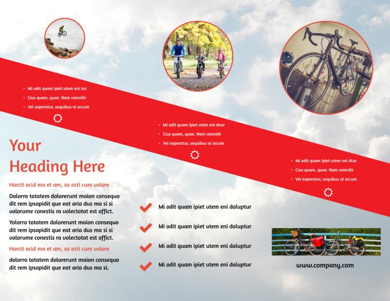 Bike Shop Brochure Template Preview 3