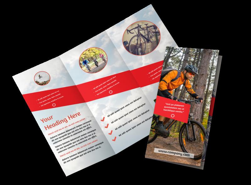 Bike Shop Brochure Template Preview 1