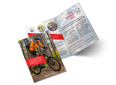 Bike Rentals & Mountain Biking Bi-Fold Brochure Template 2