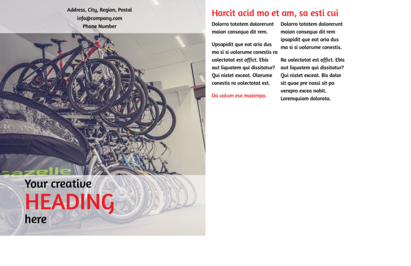 Bike Shop Postcard Template Preview 3