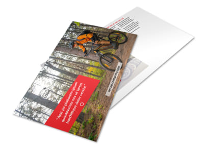 Bike Rentals & Mountain Biking Postcard Template preview