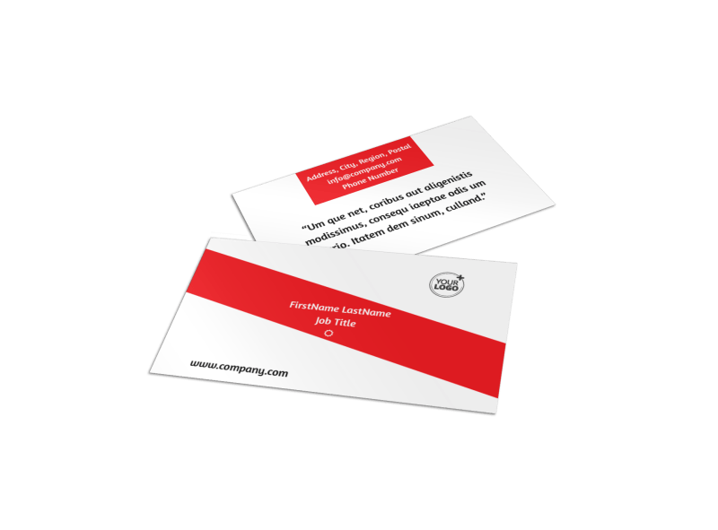 Bike Shop Business Card Template Preview 1