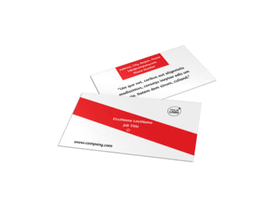 Bike Rentals & Mountain Biking Business Card Template