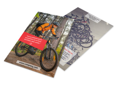 Bike Rentals & Mountain Biking Flyer Template 3