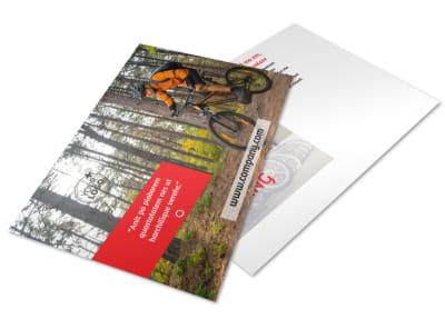 Bike Rentals & Mountain Biking Postcard Template 2 preview