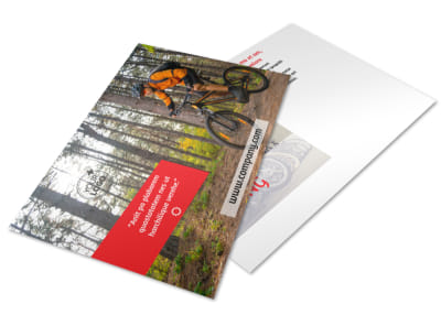 Bike Rentals & Mountain Biking Postcard Template 2