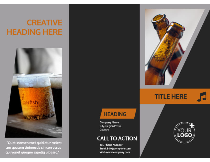 Brewery Brochure Template Preview 2