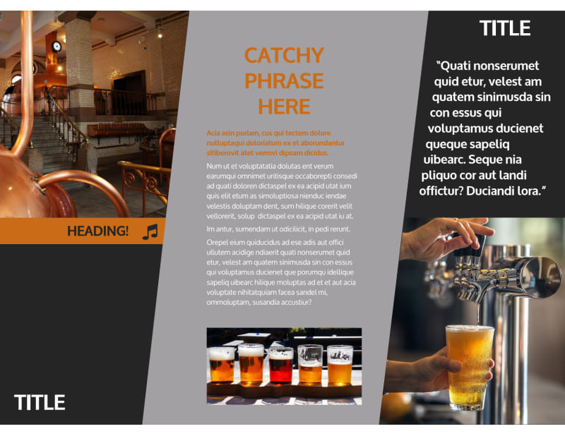 Brewery Brochure Template Preview 3