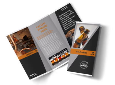 Brewery & Brew Pub Tri-Fold Brochure Template preview