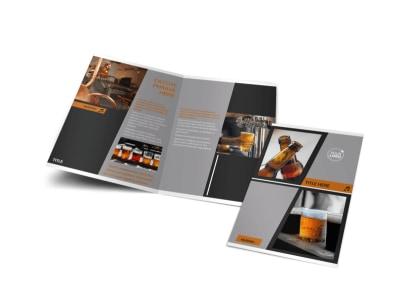 Brewery & Brew Pub Bi-Fold Brochure Template