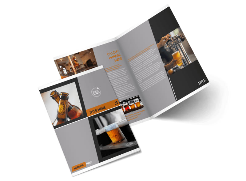 Brewery & Brew Pub Menu Template 2