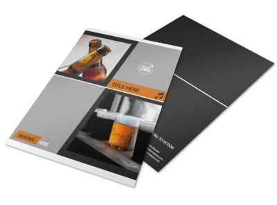 Brewery & Brew Pub Flyer Template