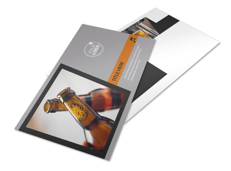 Brewery Postcard Template Preview 1