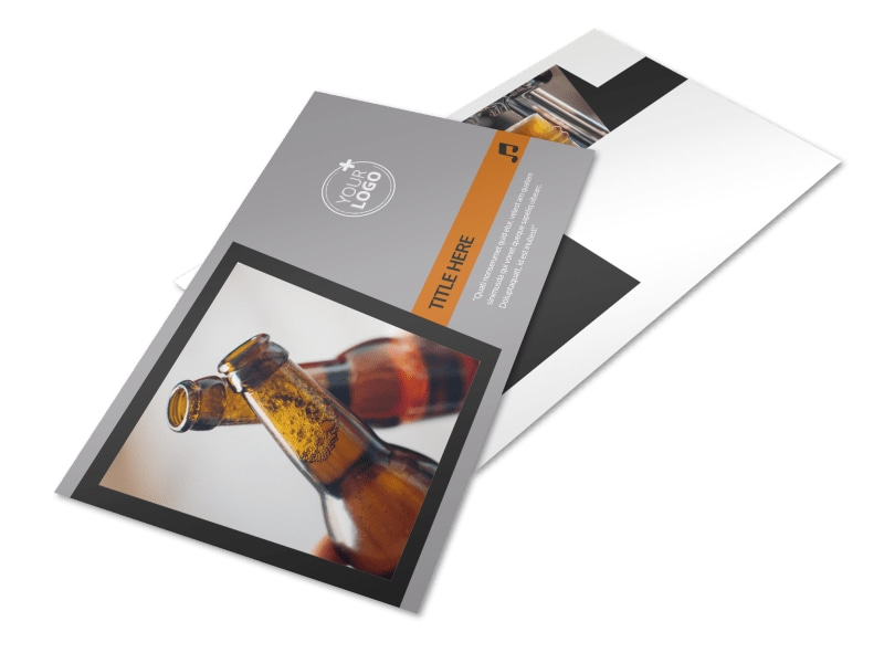 Brewery & Brew Pub Postcard Template