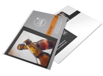 Brewery & Brew Pub Postcard Template 2 preview