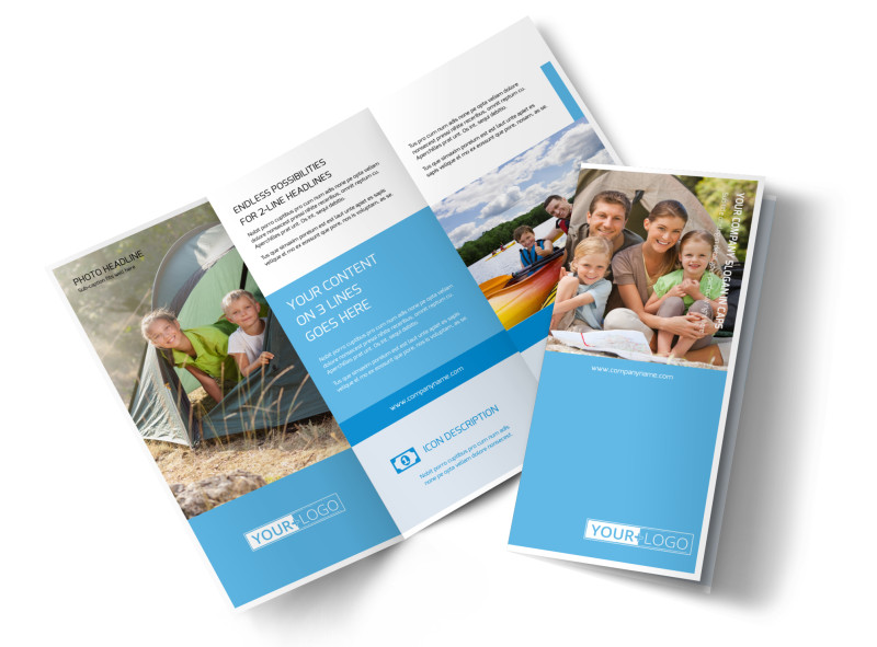 Campgrounds & Recreation Brochure Template Preview 4