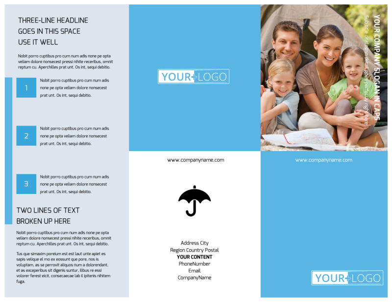 Campgrounds & Recreation Brochure Template Preview 2