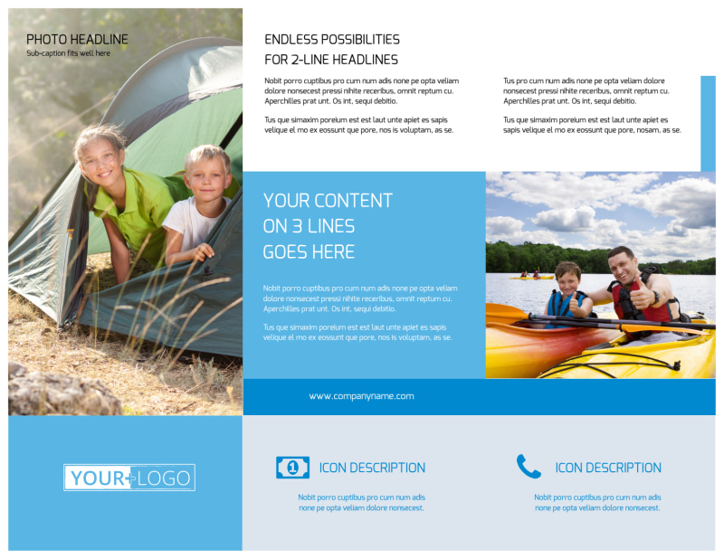 Campgrounds & Recreation Brochure Template Preview 3