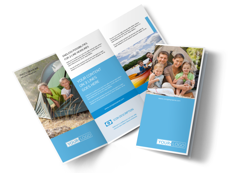 Campgrounds & Recreation Brochure Template Preview 1