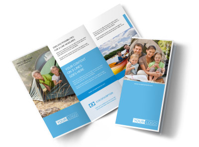 Campgrounds & Recreation Tri-Fold Brochure Template
