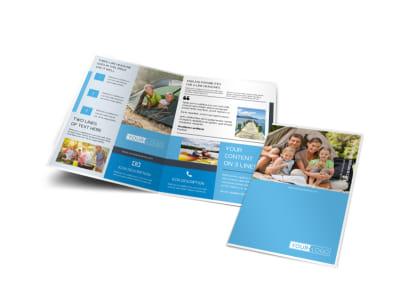 Campgrounds & Recreation Bi-Fold Brochure Template