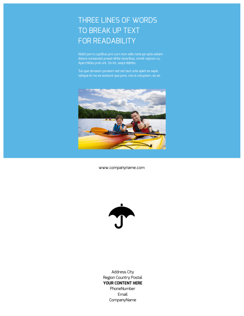 Campgrounds & Recreation Flyer Template Preview 3