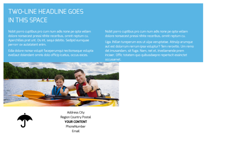 Campgrounds & Recreation Postcard Template Preview 3