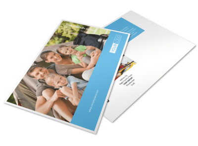 Campgrounds & Recreation Postcard Template