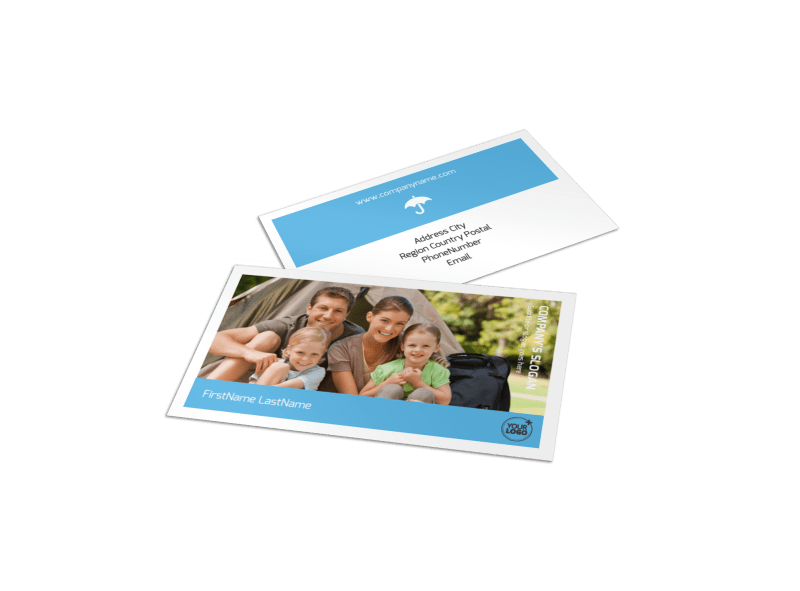 Campgrounds & Recreation Business Card Template Preview 1