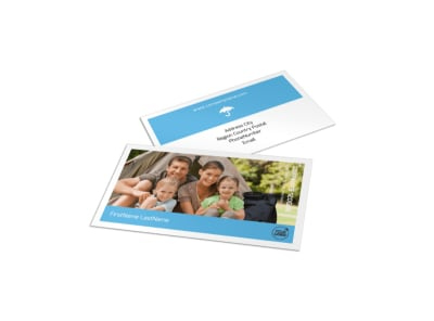 Campgrounds & Recreation Business Card Template preview