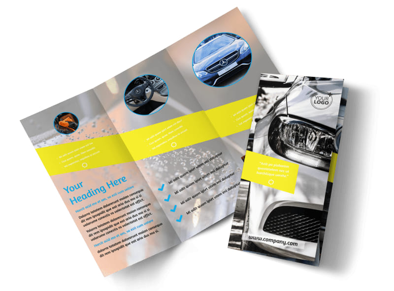 Car Cleaning Brochure Template Preview 4