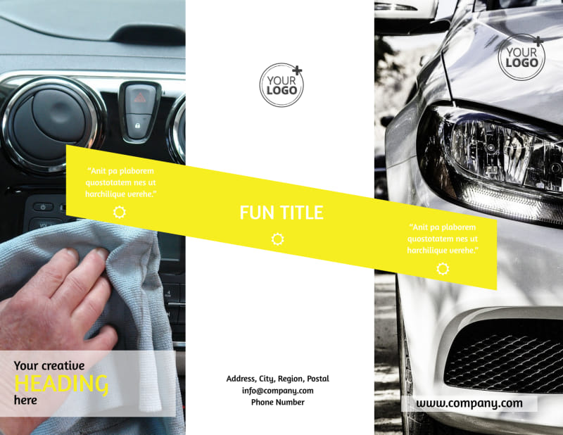 Car Cleaning Brochure Template Preview 2