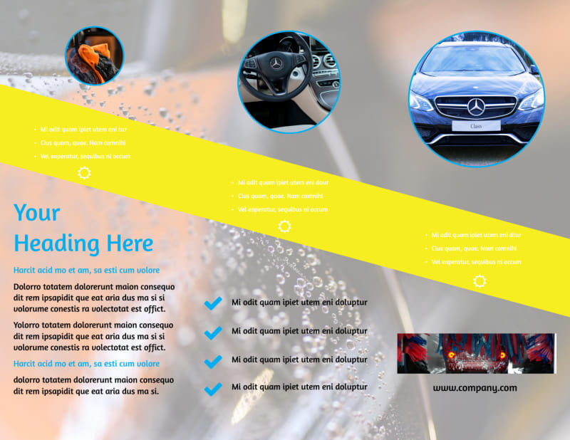 Car Cleaning Brochure Template Preview 3