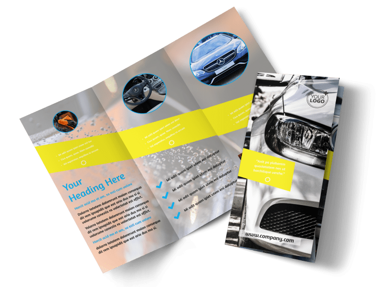 Car Cleaning Brochure Template Preview 1