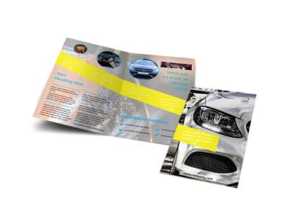 Car Cleaning Bi-Fold Brochure Template