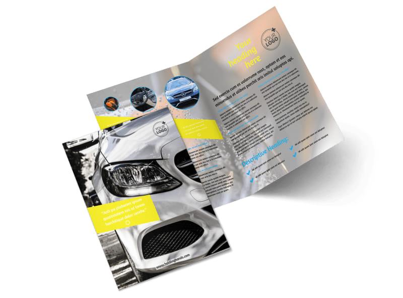 Car Cleaning Bi-Fold Brochure Template 2