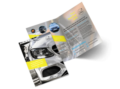 Car Cleaning Bi-Fold Brochure Template 2